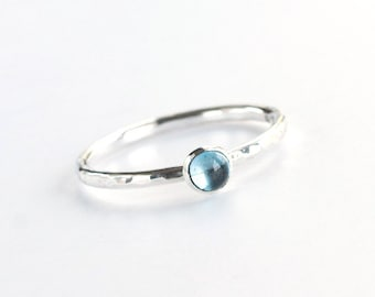 Plumeria - London Blue Topaz and Sterling Silver Ring