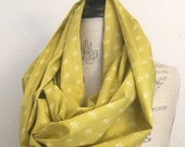 SALE Infinity Scarf - Cotton Voile Fabric - Modern Fashion Accessory - Ladies Teens Tweens