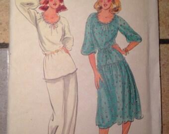 Butterick 5711 Size 8 Misses' Dress , Tunic, Pants, and Belt Pattern UNCUT