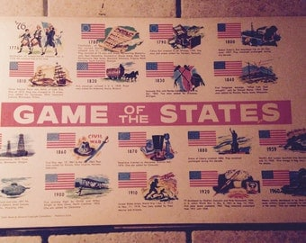 1960 The Flags of America Print