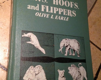 1954 Paws, Hoofs, and Flippers Children's Science Book
