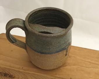 Left handed Pottery Mustashe Mug