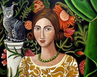 Fine Art Print of The Cat Sitter-