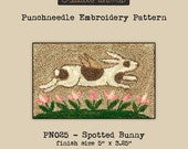 Punchneedle | Pattern | Needlwork | DIY | Crafts | Spotted Bunny | PN025