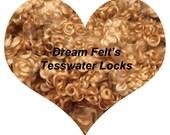 Dream Felt's Beautiful  LIGHT BROWN Teeswater Locks 1 oz  for Santa Beards, Hair, Needle Felting, Wet Felting, Spinning, Doll Hair and more!