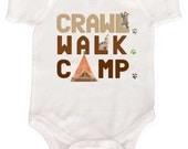 Baby Camping Bodysuit Baby Bear Bodysuits Infant Woodland Shirts Kids Camping T Shirt