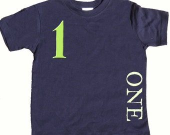 1st Birthday T shirt Boys First Birthday Shirt by Mumsy Goose  One Shirts Any Age Birthday Shirt