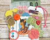 MINI Inspiration Journal Kit, 20pcs, Junk Journal Kit, Daily Planner, DIY Craft Kit, Project Life, Smash Book Kit, Scrapbook Kit