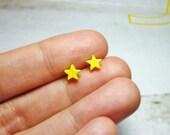 Tiny Pastel Star Stud Earrings, Dainty Earrings