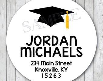 Graduation Cap Address Labels, Graduation Address Labels