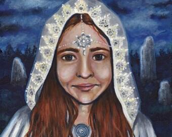 "Print 8 x 10"" Bridgit, goddess, imbolc - Maidan Goddess, Fantasy, pagan art"