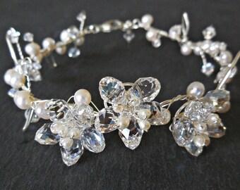 Silver Bracelet Sakura Moonlight - Sterling Silver in Silver