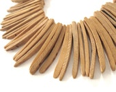 Peach Wood Stick Beads - coconut indian stick 1 1/2 inch - 25pcs  (PC202E)