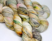 Hand Dyed Speckled Yarn - SW Merino Singles - Superwash Merino - 400 yards -  Combat Boots and Baby Doll Dresses