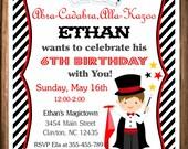 Magician Party Invitation, Magic Birthday Invitation, PRINTABLE Magic Party Invitation