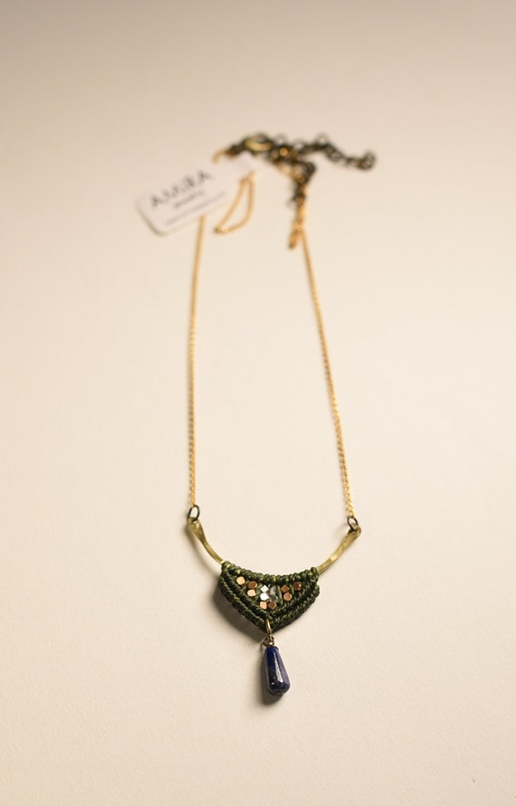 Portico Necklace with Lapis