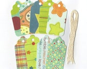Clearance Sale / Assorted Large Scallop Die Cut Gift Hang Tags (Set of 9) (C18)