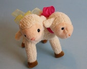 Two Headed Lamb from upcycled recycled materials