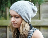 ON Sale Knitted Slouchy Beanie Dreads Hat Mid Grey