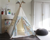Play Teepee tent | Map Print | MIDI size