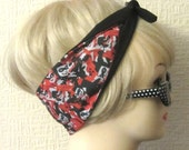 Harley Quinn Hair Tie Fabric Head Scarf by Dolly Cool Comic Book Strip Marvel DC Boom Pow Zap Superhero