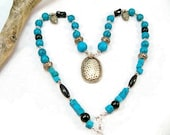 Turquoise Howlite Necklace | Women's Necklace | Women's Gift | Pendant Necklace
