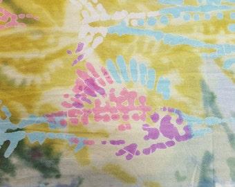 Fish Print Cotton Batik 4-3/4yd