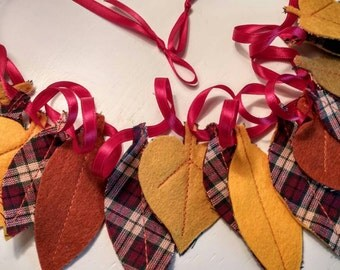 Fall Felt Leaf Garland - (R)