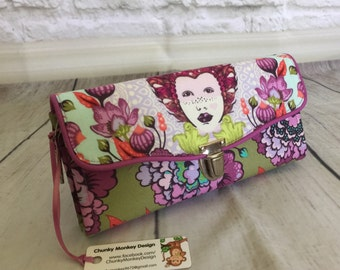 Necessary Clutch Wallet, Tula Pink, Elizabeth, Accordion Wallet