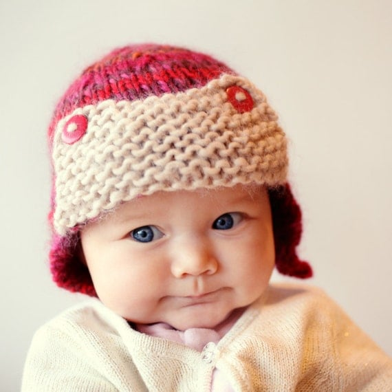 Knitting Pattern For Baby Pilot Hat : Baby Aviator Hat Knitting Pattern Knit Aviator Hat PDF Knit