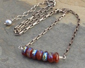 Carnelian Sterling Silver Necklace - Sunset