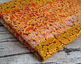 African wax Print Orange Red Fat quarter. fat quarter. wax print fat quarter, quilting, African fat quarter