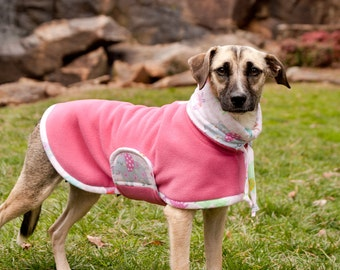 Mommy and Me: Dog Fleece, Dog Fleece Coat, Dog Coat for Winter, Dog Coat with Snood, Big Dog Coat