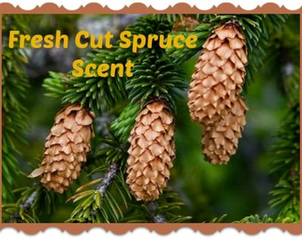 FRESH CUT SPRuCE Scented Soy Melts - Soy Wax - Wickless Candle Tarts - Highly Scented - Hand Poured - Handmade In USA
