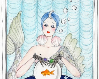 Mystic Mackerel card with Fortune Teller Fish