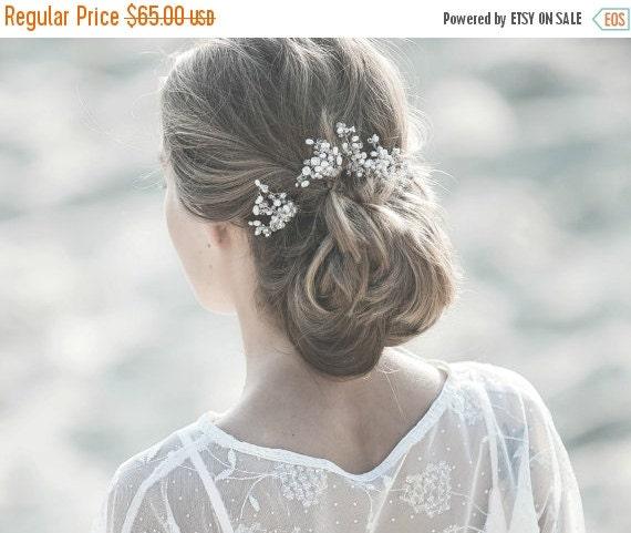 Bridal Hair Pins , Wedding HairPins , Bridal Hairpieces,Freshwater Pearl Bridal Hairpins, Bridal Hair Pins, Crystal Hair Pins , Bridal Hair