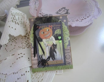 Whimsical Halloween Card - Handmade Halloween Card