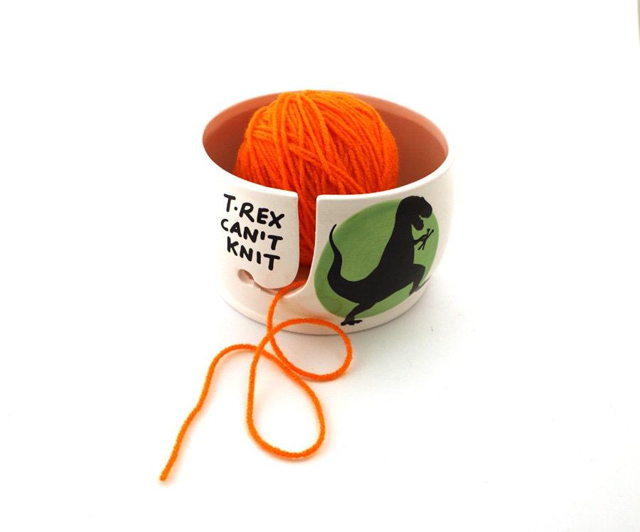 Zombie Knitting Bowl : T rex yarn bowl can knit extra large ceramic