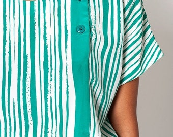 35% OFF SUMMER SALE The Vintage Green Striped Tunic