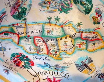 Vintage Jamaica Tourist Scarf