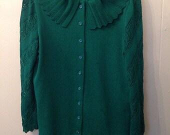Vintage Castleberry Knit Suit Jade