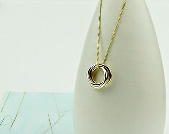 Solid 9ct Gold Trio Necklace