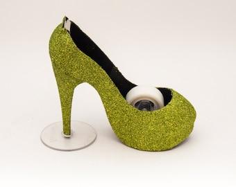 Glitter | Apple Green High Heel Tape Dispenser by Princess Pumps