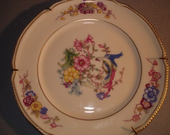 Vintage Phoenix Plate/ Castleton China  U.S.A.  / Decorative Plate and Hanger / Beautiful  / 8 inch/ 1950s