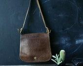 Large Crossbody Coach Bag Leather Bohemian Fashion Vintage From Nowvintage on Etsy