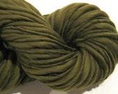Handspun Yarn Olive 84 yds camo yarn green yarn brown yarn olive yarn merino wool knitting supplies crochet supplies waldorf doll hair