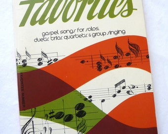Favorites, Number 7, Vintage Church music, Singspiration Series, Christian music, Religious music, softcover book, singing book,Gospel Songs