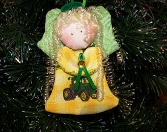 John Deere- fabric angel ornament #8