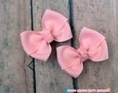 Girls  Hair Bows-Pink--2 Inches