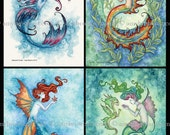 5x7 mini-print SET mermaid by Amy Brown